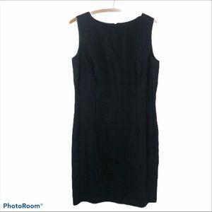 Talbot's Irish linen sleeveless shift midi dress